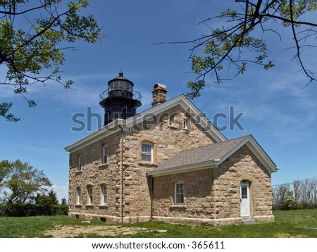 Old Field Point Lighthouse, Old Field, Long Island, NY. 1823