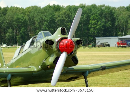 old  Fighter Plane - stock photo