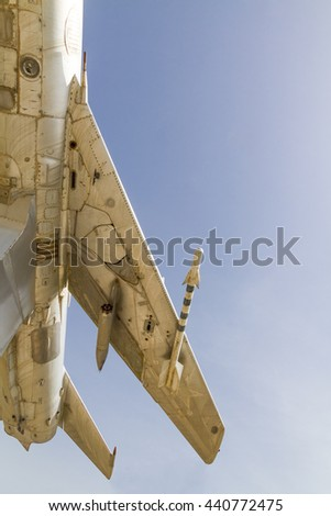 Old fighter plane at a deserted Russian military base, Turkmenistan