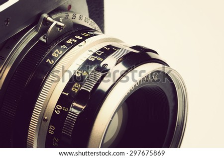 old film camera and Lens