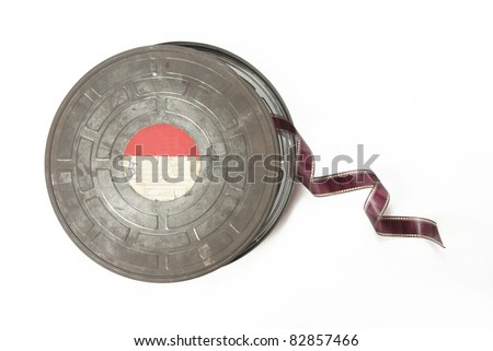 old film can - stock photo