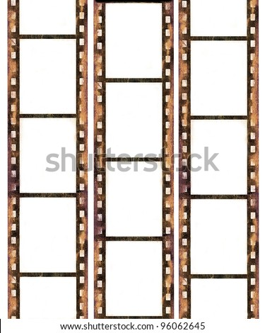 Old film frames - stock photo