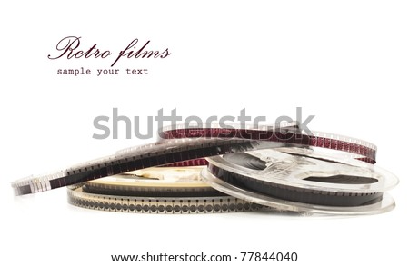 old Film Reel isolated on a white background