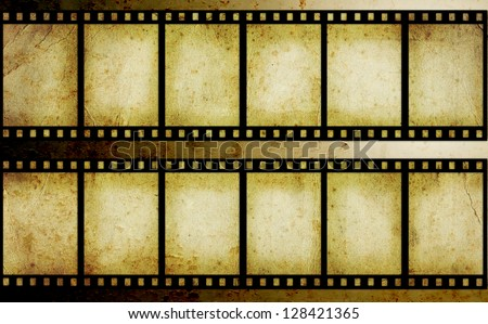old film strip - stock photo