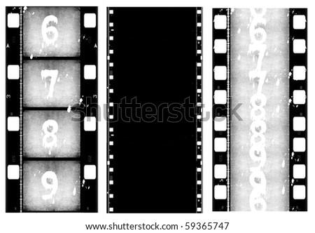 Old film strip - stock photo