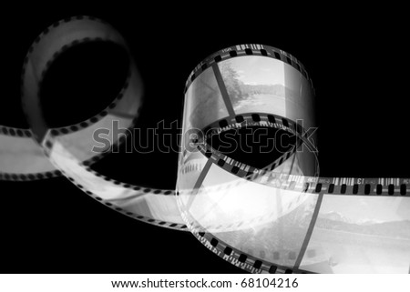 Old film strip. - stock photo