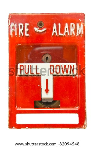old Fire Alarm - stock photo