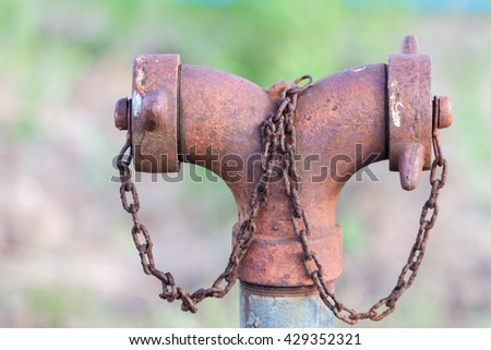 Old fire hose - stock photo