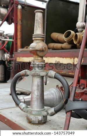 Old fire hoses   - stock photo