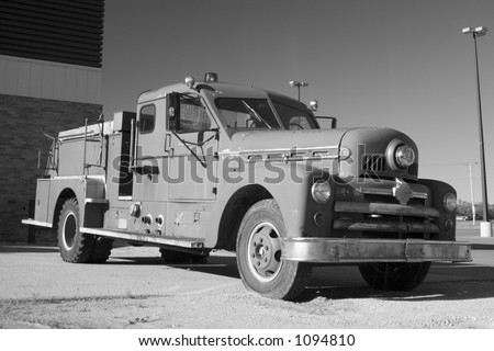 Old Fire Truck - stock photo