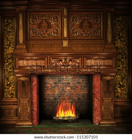 Old Fireplace Stock Images Royalty Free Images Amp Vectors