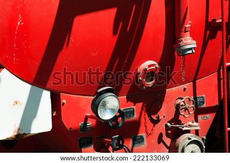 Old firetruck. - stock photo