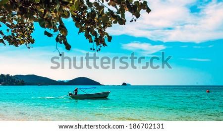 Old fishing boat  - stock photo