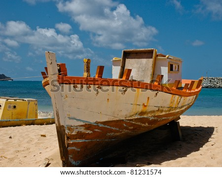 Old Fishing Boat in Brazil