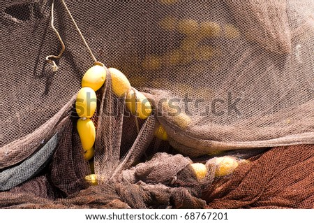 Old fishing net - stock photo