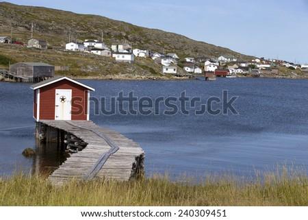 Old fishing shack on Newfoundland, Canada - stock photo