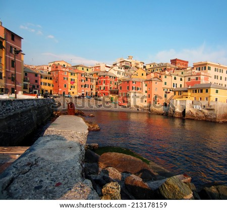 Old Fishing Village by Genoa, Italy