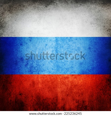 Old flag of Russia - stock photo
