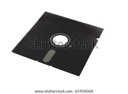 Old floppy disk - stock photo