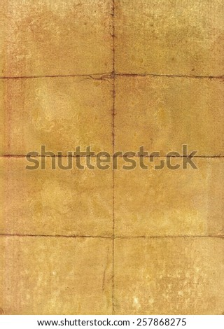 Old folded paper page texture - stock photo