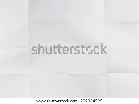 Old folded paper texture.  - stock photo