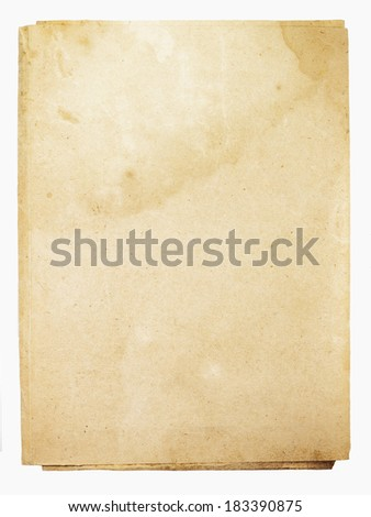 old folder isolated on white background