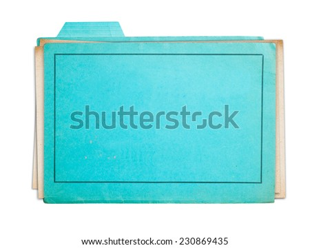 Old folder isolated on white background clipping path - stock photo