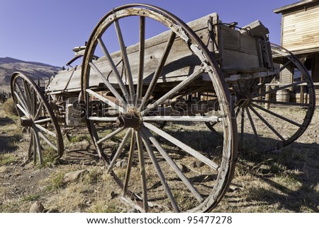 Old Fontier Wagon - stock photo