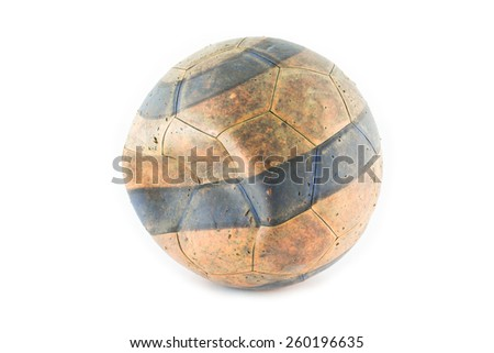 Old football - stock photo