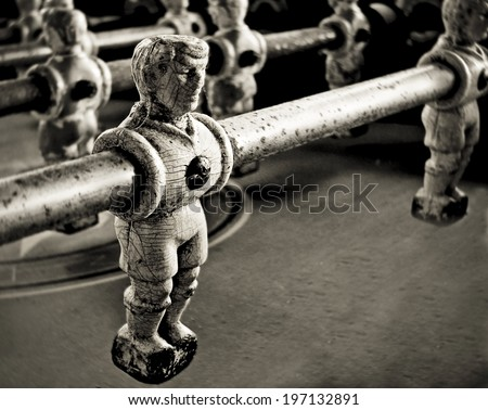 old  football  players - stock photo