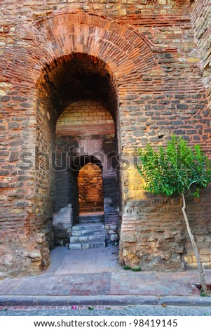 Old Fort at Istanbul Turkey - architecture background - stock photo
