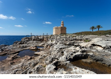 Old fort in the harbor of Ciutadella,Menorca,Spain - stock photo