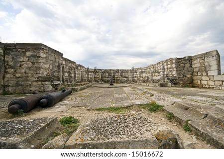 Old fortress at Corfu island, Greece - stock photo