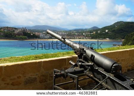 Old fortress in San Sebastian, Spain - stock photo