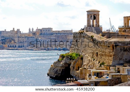 Old fortress on the seaside in malta - stock photo