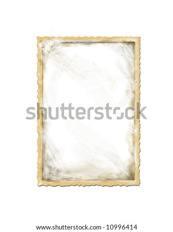 Old frame - stock photo