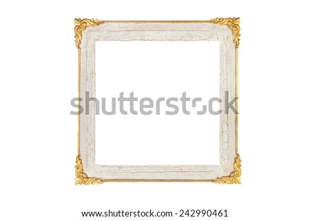Old frame and pattern picture frame. vintage - stock photo