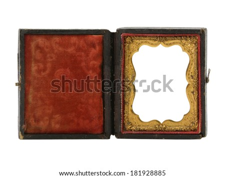 Old frame on white background.   - stock photo
