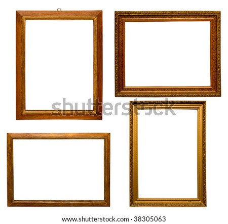 Old frames - stock photo