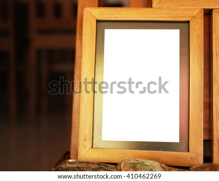 old frames are arranged neatly - stock photo