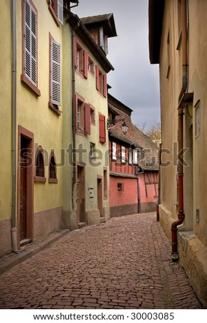 Old French city Colmar - stock photo