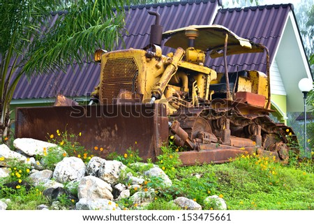 old Front End Loader - stock photo