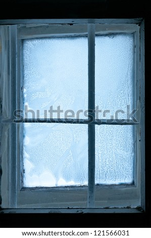 Old Frozen window