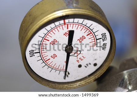 Old gage - stock photo