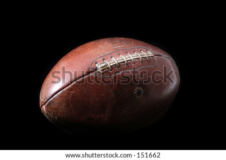 Old Game Ball - stock photo
