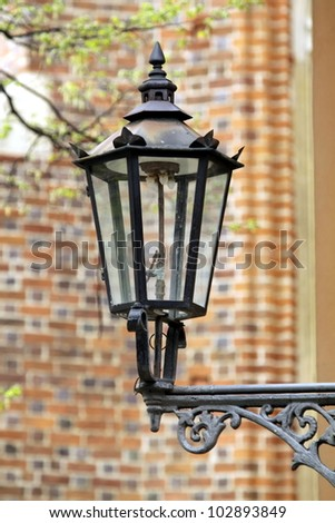 Old gas lamp in Wroclaw, Poland