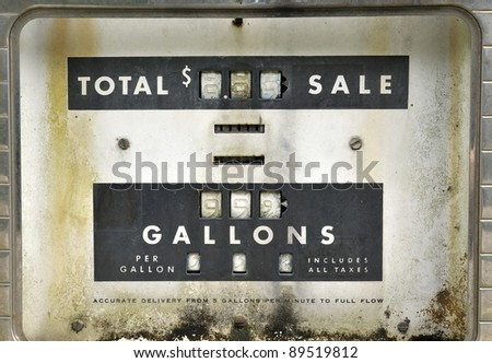 Old Gas Pump, Detail - stock photo