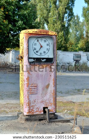 old gas station - stock photo