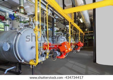 Old Gas Steel Boilers Established Old Stock Photo (Royalty Free ...