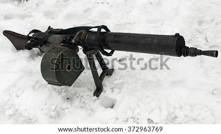 Old German gun - stock photo